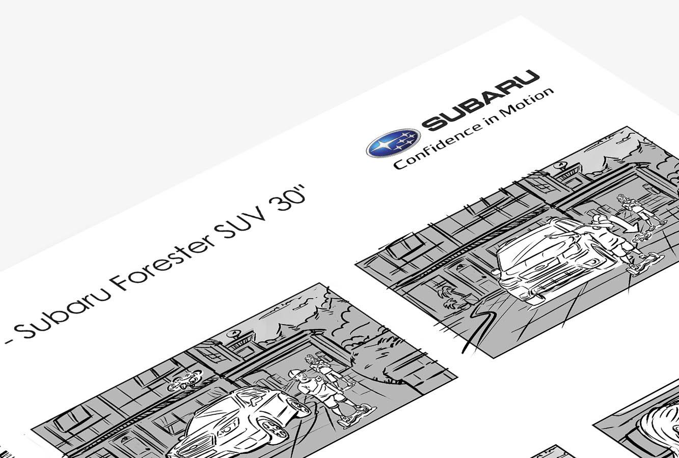 Subaru Forester 30″ Storyboard